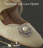 LilyBlue shoe decoration with Diamante Flower and Lace Option example