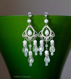 Crystal Chandelier Wedding Earrings