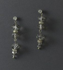 LilyBlue Smokey Crystal Drop Earrings (medium-length)