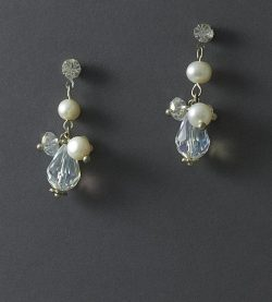 LilyBlue Dainty Pearl Cluster Earrings