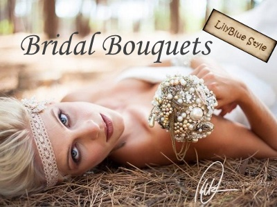 Jewellery Wedding Bouquets - by LilyBlue