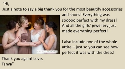 LilyBlue Real Wedding Testimonial -Tanya
