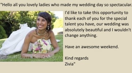 LilyBlue Real Wedding Testimonial - Zivia