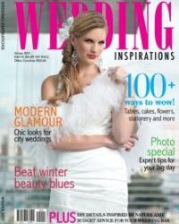 Wedding Inspiration Bridal Magazine - With our Lilyblue accessories on the cover :-)