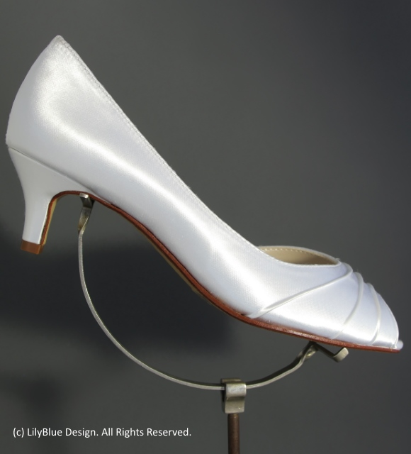 36090b2d5 Kitten heel Abby Satin Wedding Shoe. This beautiful satin shoe is dyeable  in 120 colours