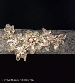 Floral Wedding Dress Sash | by LilyBlue