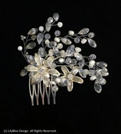 Gorgeous Crystal and Pearl Vine Hair Accessory