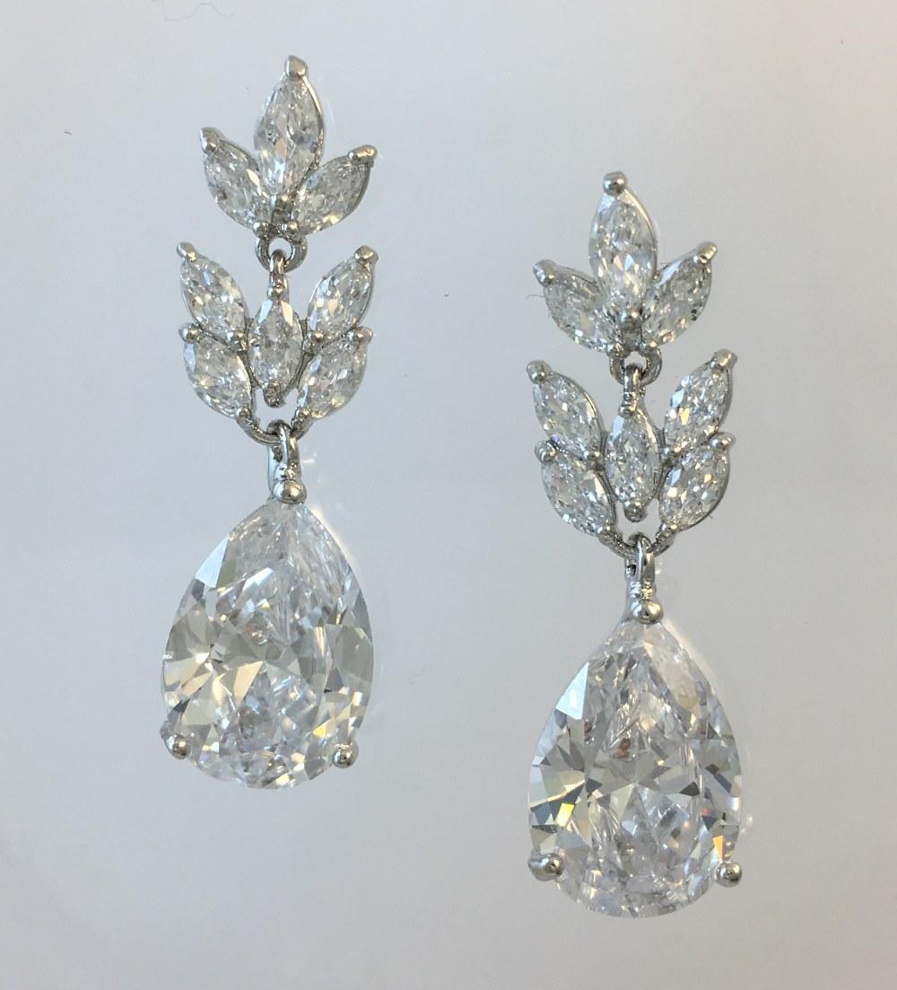 Cubic Zirconia Wedding Earrings 024 By Lilyblue Wedding Accessories