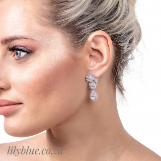 Spring Silver Wedding Earrings Cz048 By Lilyblue Wedding Accessories